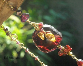 Garnets and Gold Necklace
