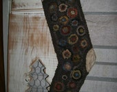 Primitive Rug Hooking Penny Stocking SPECIAL LISTING for Jodi