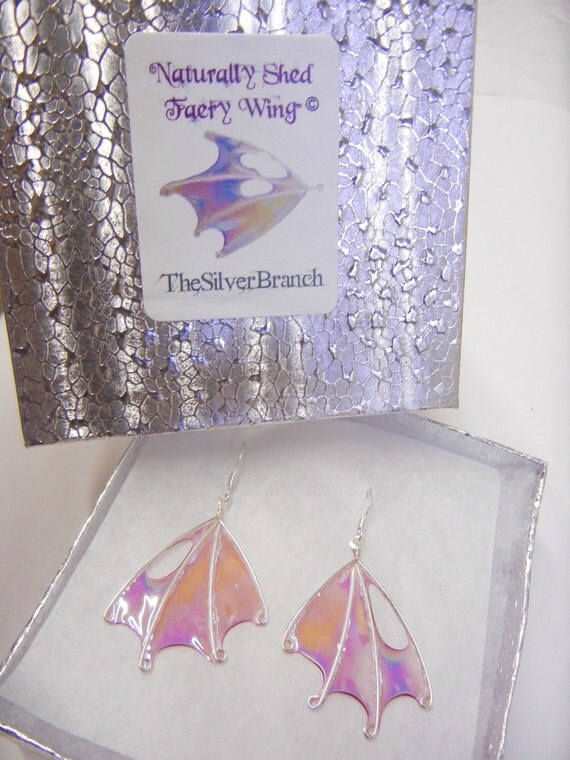 Faerie Wing Earrings, Renaissance Fairy Costumia, Handmade, OOAK, Fairy Wings, Fairie Wings, Evening Wisp