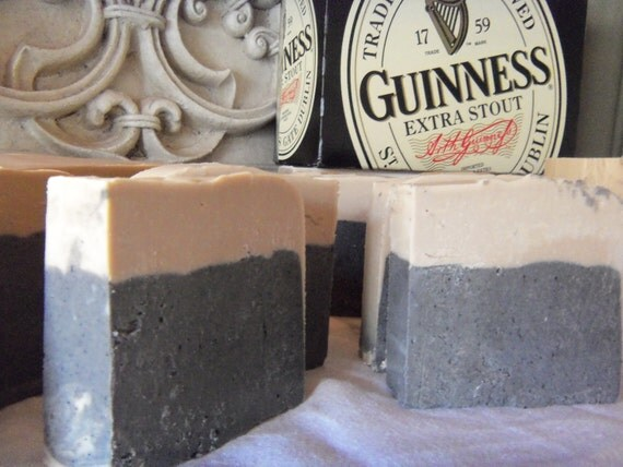 1 sample Beer Soap made with Guinness beer  2oz    Made to look like a pint of Beer