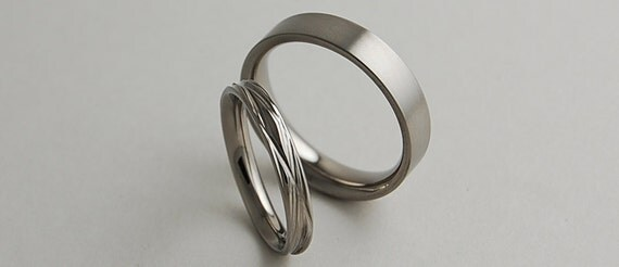 Wedding Bands , Titanium Rings , Promise Rings , Titanium Wedding Ring Set , Titanium Wedding Band Set , The Sphinx and Apollo Bands