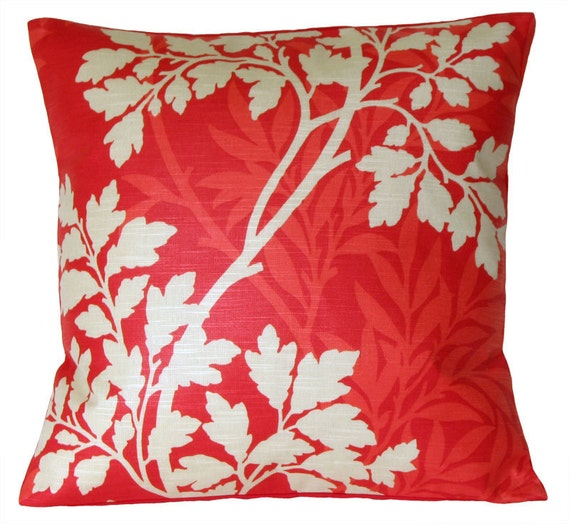 Red Cushion Cover 18 Inch Pillow Sham Pillow cover - Hedgerow Red