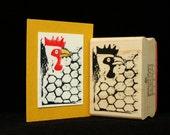 chicken wire rubber stamp