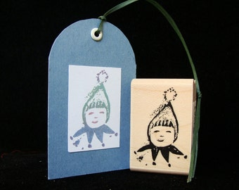 winter baby rubber stamp