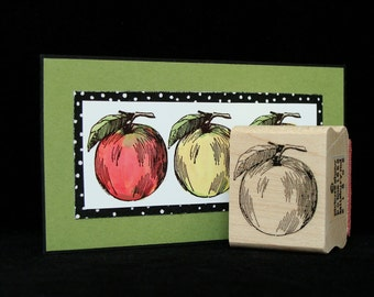 apple a day rubber stamp