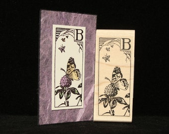 pictureshow rubber stamp B is for butterfly