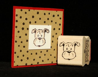 little dog rubber stamp