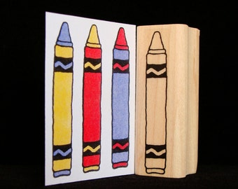 crayon rubber stamp