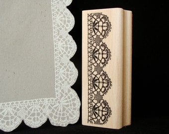 lace border rubber stamp