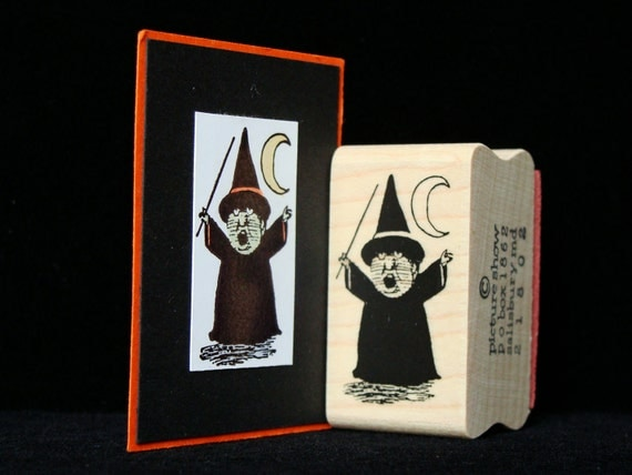little witch rubber stamp