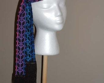 A183     Headband  Groovy Hippie Peace Sign Hippie Headband 4a  Ready To Ship