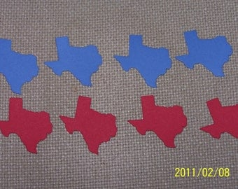 16 State of Texas Cardstock Die Cuts Scrapbooking