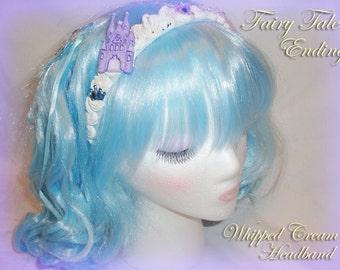 Fairy Kei Cinderella Fairy Tale Ending Whipped Cream Headband