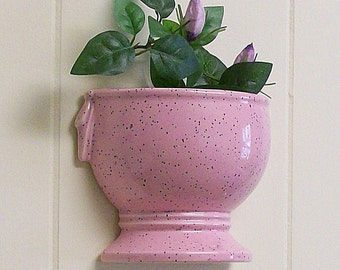 Wall Pockets / Hanging Vases / Planters / Pair of  McCoy Half Urn Pink