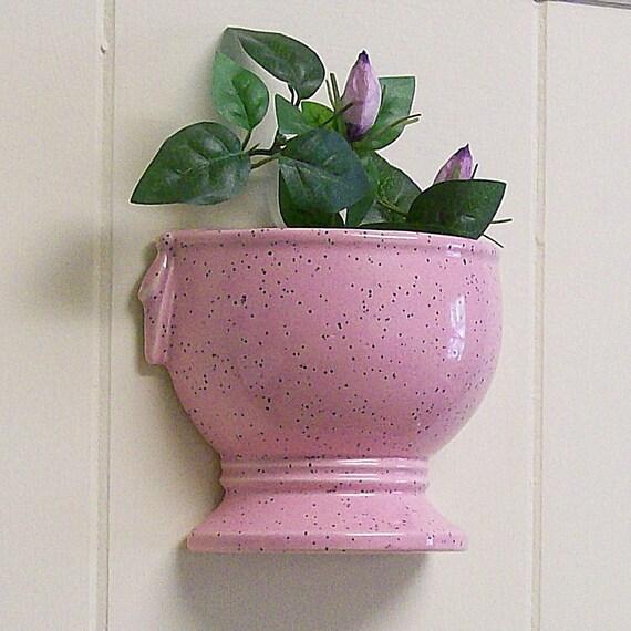 Wall Pockets / Hanging Vases / Planters / Pair of  McCoy Half Urn Pink