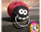 LADY BUG floating Key-Maid felted keyring - Made To Order (approx 2 weeks)