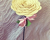 Medium felt rose bloom