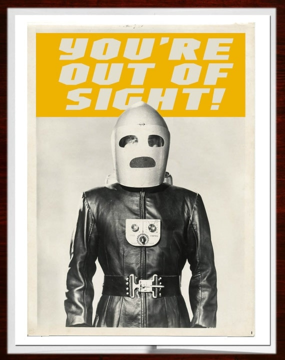 Congratulations, Out of Sight, Congratulations Card, Rocketeer, Jetpack, Retro, Steampunk, Greeting Card, Alternate Histories, Geekery