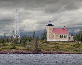 Copper Harbor Lighthouse on Lake Superior in the Michigan Upper Peninsula No.0031 -  A Fine Art Lighthouse Seascape Photograph
