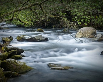 Oconaluftee River flowing in the Great Smokey Mountains in North Carolina No.0312 -  A Fine Art Landscape Photograph