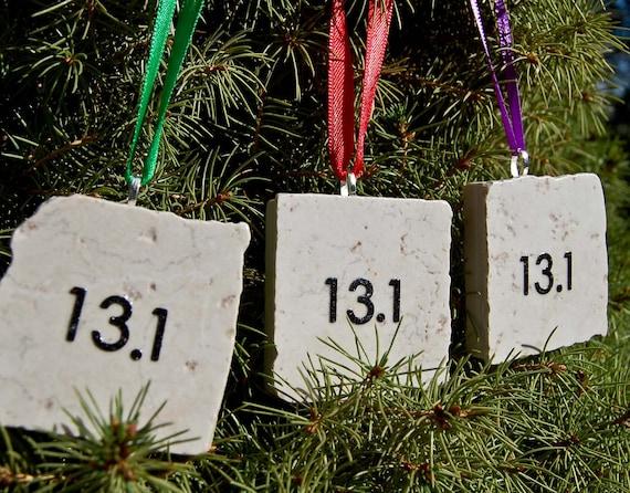 Half Marathon Ornament Tree Hanging