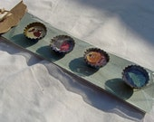 Holiday Upcycled Bottlecap Magnets, Set of 4, Handmade, Easter, Halloween, Thanksgiving, Christmas