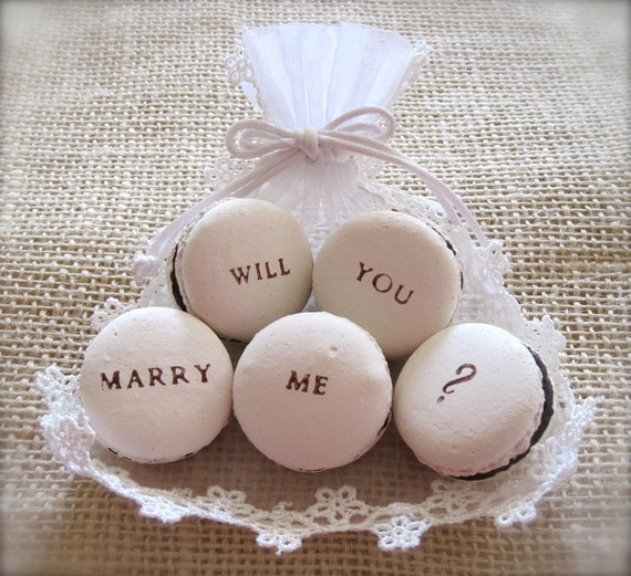Will You Marry Me - Surprise proposal of marriage with a ceramic macaroons, Ceramic Macaron Fragrance Object, Essential Oil Diffuser