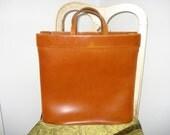Square Leather Bag. Vintage Bag