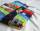Rocket Ships in Outer Space Baby Quilt