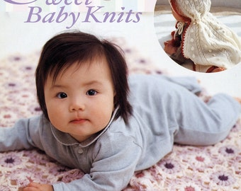 out of print - Japanese knit crochet pattern BOOK ap96 sweet baby knits RARE