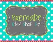 Premade Etsy Banner Set- The Harper Design