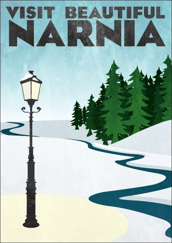 """Travel Poster - Narnia (small - 12 x 16"""" or A3)"""