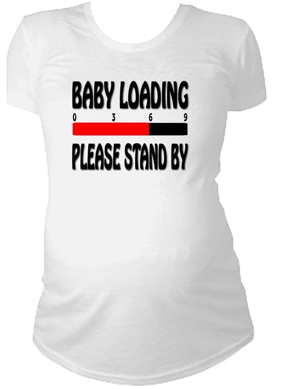Baby loading cute funny maternity t shirt pregnant pregnancy for Funny cute maternity shirts