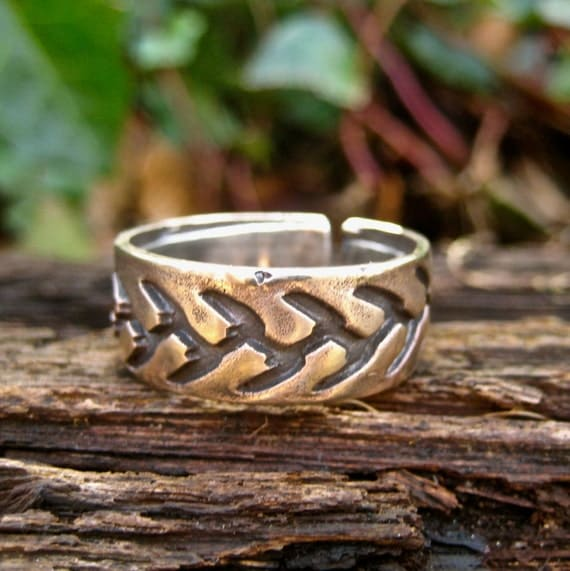 SALE Rustic Bronze And Silver Ring Mixed Metal Jewelry