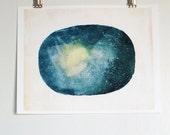 Wall Art for Geeks and Science Lovers // Uncharted No.2 Reproduction Print // Universe Stars Starmap Painting
