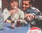 "9"" x 12"" Pepsi's vintage advert dated 1964"