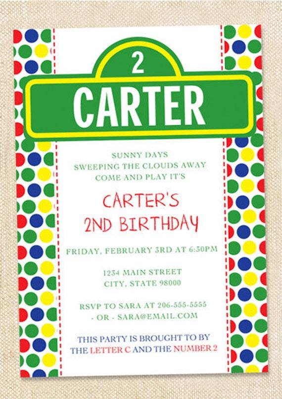Sesame Street Invitations Set Of 15
