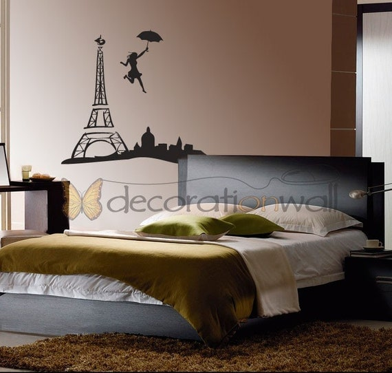 Jump to Paris wall decal