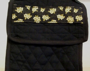 Lunch Bag - Black Quilted
