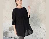 Summer black  women  tunics, one size fits all
