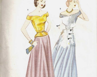 RETRO '48 Butterick Pattern 3130 reproduction 1948 Skirt and Top Blouse size large bust 42 44 46