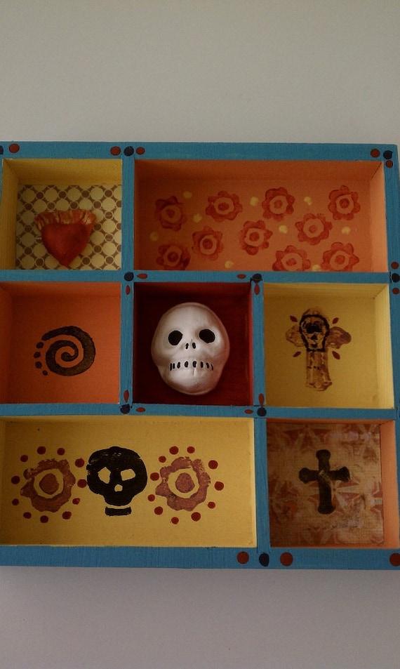 Day of the Dead Skully Shrine Shadow Box