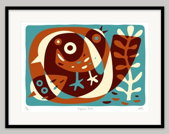 Beginner Birds by Lo Cole - Limited edition archival pigment ink print
