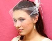 Tulle bandeau veil- white / diamond white / ivory