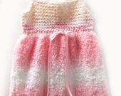 Girl's Pink Summer Sun Dress, School Jumper, School Dress, Pink Valentine's Dress, Girl's Pink Dress