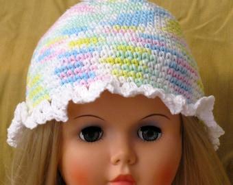 Little Girl's Pastel Hats, Kids Pastel Hat, Girl's Aqua Hat
