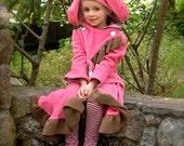 Bunnycoat/ Rose Garden Rabbit with brown trim size 8 / 10