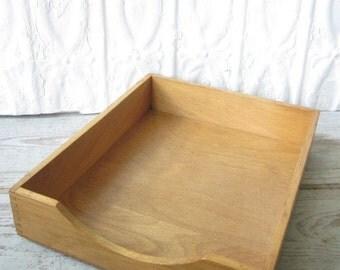 Wood Desk File Box