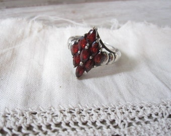 Sterling Silver and Red Ring