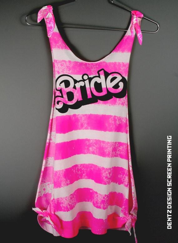 Bride Shirt - BARBIE Bride Scoop Neck Tank Top Romper - bridesmaid gift